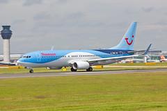 "G-TAWB Boeing 737-8K5SC Thomson Airways MAN 17-07-16 (PlanecrazyUK) Tags: egcc manchester man ringway ""manchester airport"" gtawb boeing7378k5sc thomsonairways 170716"