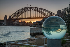 Sydney Harbour Bridges..sunrise. (Tacksoon) Tags: sydneyharbourbridge sydney harbour crystalball