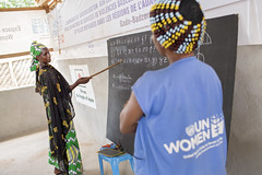 UN Women Humanitarian Work with Refugees in Cameroon (UN Women Gallery) Tags: unwomen planet5050 genderequality empowerment cameroon humanitarian refugee centralafricanrepublic wps 1325 onufemmes cameroun integration resettlement french language literacy adultliteracy education class joy helping
