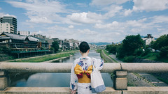 Day2 (stanley yuu) Tags: gr japan kyoto kansai people woman 日本 關西 京都 人 女 鴨川 五条