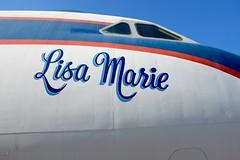 The Lisa Marie (pburka) Tags: lisamarie elvis presley jet plane airplane aeroplane convair 880 memphis tennessee tn graceland aircraft handlettering