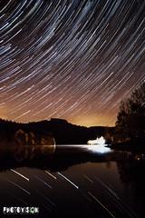 Esch-sur-Sre, Luxembourg (Fbio_Simes) Tags: rio landscape night stars estrelas startrail river luxembourg eschsursre water gua