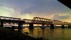 Beauty of meghna (Odbhoot_chele) Tags: meghna bangladesh river sunset landscape beauty nature bridge outdoor water architecture building