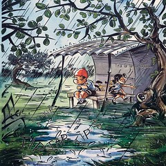 #comic #childhood #innocence #firstlove #crush #school #india #minicomic #zine #indiecomics #Hanni #art #illustration #cover #stories #kids #watercolor #love #webcomic #Rains #colour #green #puddle #fullpage #splash #together #stuck #puppylove (lipuster) Tags: childhood life kids india innocence stories art illustration sketch drawing