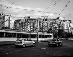Bucharest 2016 (Markus Kolletzky) Tags: bucharest city cityscape capital bukarest romania rumnien black white car socialism architecture