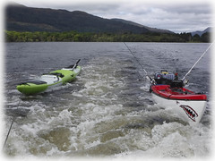 The race is on ! (Nicolas Valentin) Tags: alba scotland scenery loch landscape lochlomond light lomond lake kayakfishing kayak kayakscotland kayaking kayakfishingscotland cloud clouds grey water