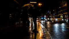 """Day 23/365_Luxembourg rain (Frdric Cottens - Photographie """"brute"""") Tags: luxembourg night rain lights penf day23 365 umbrella street reflections kontrast color"""