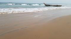at the beach in Andhra Pradesh (yumievriwan) Tags: fishing boats ocean india beach andhra