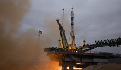 Expedition 49 Launch (NHQ201610190023) (NASA HQ PHOTO) Tags: kazakhstan baikonur baikonurcosmodrome roscosmos expedition49launch kaz expedition49 nasa joelkowsky soyuzms02