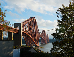 Forth Rail Bridge #4 (Claire Stones) Tags: forthrailwaybridge october nikon cloud northqueensferry clouds red bluesky firthofforth forthrailbridge scotland forth