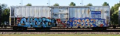 Shout/Begr (quiet-silence) Tags: graffiti graff freight fr8 train railroad railcar art shout begr lamas d30 dirty30 wge armn reefer unionpacific chilledexpress armn992064