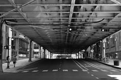 Gotham (mj.pix671) Tags: chicago gotham kinzie loop street bnw crosswalk