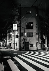 Theory: Tokyo by design. (Presence Inc) Tags: night rx1rm2 street sony abstract spaces people mirrorless architectural light transport designtheory 35mm urban tokyo urbanscape geometric dark photography rx1r design graphic bw texture japan detail