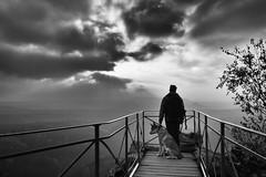Highlander (konstantin.tilberg) Tags: people bnw bw dog sky cloud mountain czech explore explored