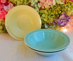 Taylor Smith Taylor Luray Pastels Serving Bowls ~ Yellow Blue Green (Donna's Collectables) Tags: taylor smith luray pastels serving bowls ~ yellow blue green thanksgiving christmas