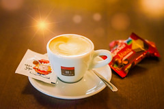 Coffee break... (clo dallas) Tags: dof indoor cupcake coffee break light smallcup dolcetto