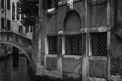 architectural forms, visual rhythms, bridge, canal, near San Toma, Venice, Italy, Nikon D40, nikon nikkor 55mm f-3.5, 10.24.16 (steve aimone) Tags: architecture architecturalforms visualrhythm bridge canal santoma venice italy nikond40 nikonnikkor55mmf35 nikonprime primelens monochrome monochromatic blackandwhite