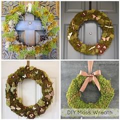 Diy: Christmas Natural Moss Wreath (irecyclart) Tags: diy kids moss wreath
