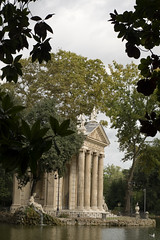 Villa Borghese (Rome 2014 #1) (Lazlo Woodbine) Tags: italy lake rome heritage history water architecture landscape temple pond october pentax roman boating 1855mm villaborghese 2014 k7