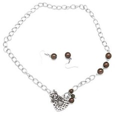 5th Avenue Brown Necklace P2330-3