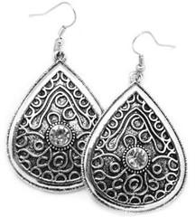 5th Avenue White Earrings P5610A-1