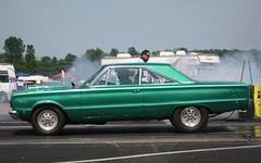 Green Plymouth Satellite (osubuckialum) Tags: show columbus ohio green classic cars car satellite plymouth views oh mopar 1000 carshow dragracing 2014 dragcar moparnationals