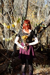 Fallen but Not Forgotten (Miss Marisa Renee) Tags: autumn trees color art nature leaves vertical digital forest canon woods colorado natural colorphotography megan figure string dreamy mywork lovely naturalworld earthworks strung earthart canon400d figureinlandscape figurephotography xhouseofleaves verticalnature marisarenee fall2014