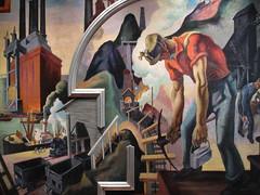 Thomas Hart Benton's America Today (ty law) Tags: newyorkcity art museum gallery depression metropolitanmuseumofart newschool thomashartbenton americatoday december2014biking