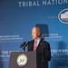 Vice President Joe Biden underscores the need for tribal nations to protect its citizens. White House Tribal Nations Conference. Dec. 3, 2014. Photo by Jared King.