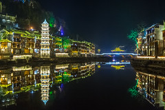 Fenghuang Ancient Town By Night - China (lucien_photography) Tags: china city longexposure nightphotography light urban building phoenix night canon dark lights town ancient village bâtiment ville chine fenghuang hunan phenix markiii canon5dmarkiii 5dmarkiii phoenixancientcity phoenixancienttown xiandefenghuang