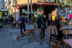 Interacting (Poupetta) Tags: people dogs telaviv streetscene florentin