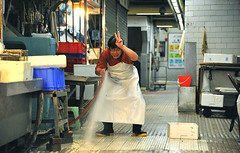 """Washing the Floor"" in the wet market, Sheung Wan, Hong Kong (Ben Molloy Photography) Tags: street people wet person photography nikon floor ben market hong kong lives molloy washing humans hosing benmolloy benmolloyphotography benmolloyhongkong"