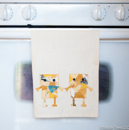 Robot Lovers Tea Towel