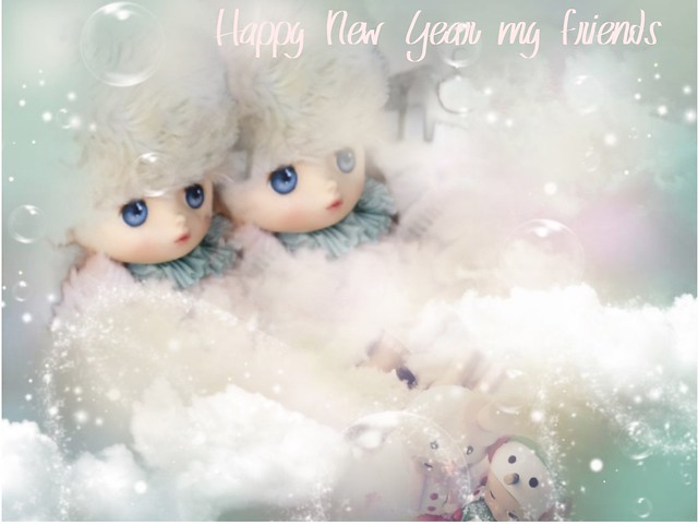 Bonne et heureuse année à mes amis  Happy New Years my friends  Bisous