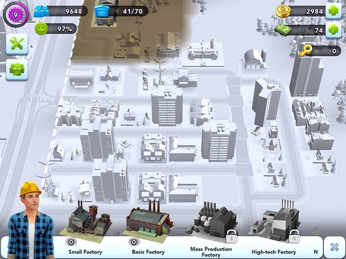 SimCity BuildIt Heads-Up Display: screenshots, UI