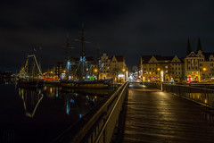 Lübeck @Night (LB-fotos) Tags: city night town free stadt lübeck lichter nach hanse hansestadt nachts lubec hanseatic lichtstreifen
