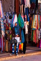 girl at a scarf shop Aswan (tattie62) Tags: travel tourism girl shop scarf shopping market egypt hijab scarves aswan niqab