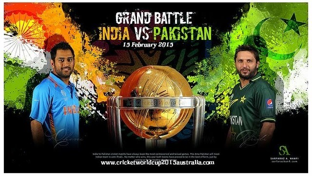 Pakistan Vs India ICC Cricket World Cup 2015 Match Wallpaper - Stylish HD Wallpapers