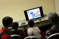 IMG_3128 (dalycitypubliclibrary) Tags: friends game night fun video smash spirit nintendo teens super mario games sonic retro 64 tennis videogames gaming teen sega videogame kart snacks genesis bros contra n64