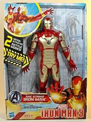 Hasbro  Iron Man 3  Arc Strike Iron Man Mk XLII  Front (My Toy Museum) Tags: light man iron action arc sound strike figures hasbro