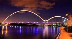 Infinity Evening (Dave Snowdon (Wipeout Dave)) Tags: bridge reflection water lights teesside stocktonontees rivertees infinitybridge wipeoutdave canoneos1100d davidsnowdonphotography djs2015