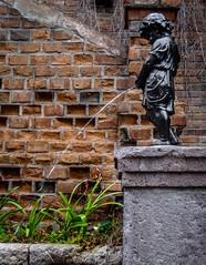 Manneken Pis (AndreHerdy) Tags: chile santiago statue peeing cerrosantalucia