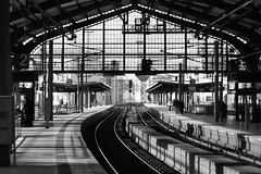 Bahnhof Friedrichstrae in Berlin (awbaganz) Tags: station bahnhof berlin bw fuji minolta md50 rokkor