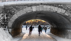 Off into the sunset : February 27, 2015 (jpeltzer) Tags: winter sunset ottawa skating rideaucanal pattersoncreek