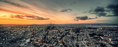 Panoramique Paris (A-lain W-allior A-rtworks) Tags: above street city roof sky paris france building tower skyline nikon tour view top shift eiffel ciel 24mm nikkor tilt rue montparnasse panoramique d800 samyang