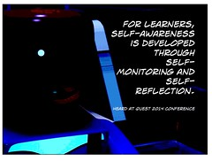 Educational Postcard: Learners need to develop self-awareness (Ken Whytock) Tags: students selfreflection through developed metacognition selfawareness learners selfmonitoring