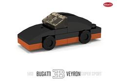 Bugatti Veyron Super Sport (1:89) (lego911) Tags: world auto records car sport vw volkswagen model break lego lets render ss go some super turbo record 88 bugatti coupe supercar challenge holder cad w16 lugnuts 2010 veyron 189 povray faster moc ldd hypercar foitsop lego911 letsgobreaksomerecords