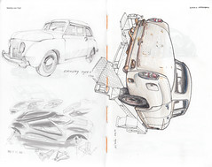 Crosley Type 4 / Mercedes-Benz W 120 (Flaf) Tags: auto car pen pencil ink mercedes benz drawing bruxelles automotive oldtimer florian crayon wreck coloured crosley w120 afflerbach