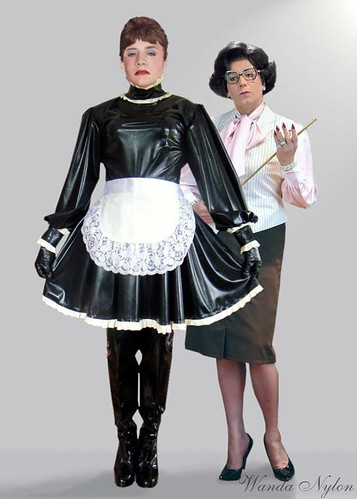 Rubber sissy maid