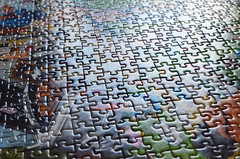 Jigsaw 1000 pieces (capstick13) Tags: abstract game colours pieces bright puzzle gift jigsaw christmaspresent documentaryphotography